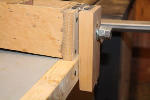 Wooden T Square Style Fence